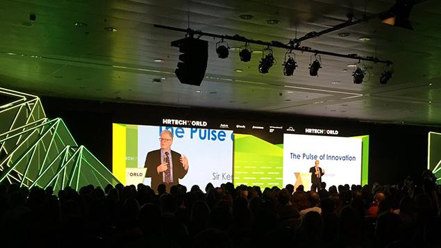 Sir Ken Robinson addresses delegates at HR Tech World Congress, Excel, LondonPhoto: HRN