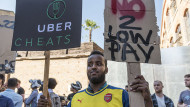 UberEats delivery riders strike and protest in London Stephen Chung/LNP/REX/Shutterstock