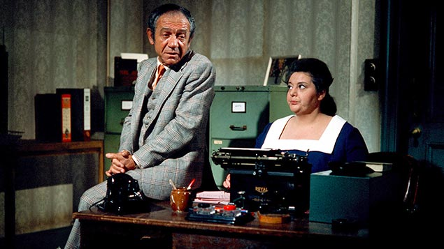 Carry On's Sid James and Hattie Jacques in the 1970sITV/REX/Shutterstock