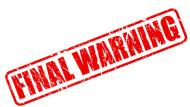 Expired warnings, final warning