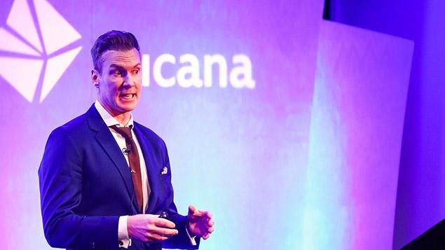 Ross Sparkman, global head of workforce planning at Facebook, speaking at People Analytics World 2017, © Tucana