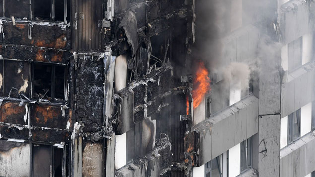 The authors of the letter think deregulation of health and safety put those in the Grenfell tower at riskJames Gourley/REX/Shutterstock