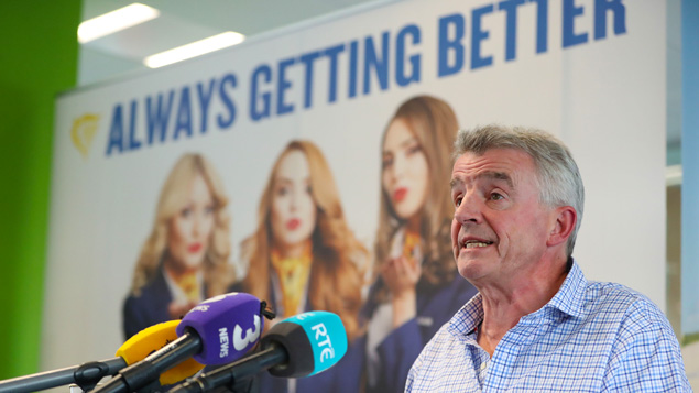 """Ryanair boss Michael O'Leary admitted the cancellation of flights due to pilot holidays is """"a mess""""Niall Carson/PA Wire/PA Images"""