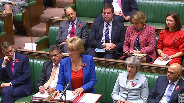 Leader of the Commons Andrea Leadsom responds to a question about allegations of unwanted sexual behaviourPA/PA Wire/PA Images