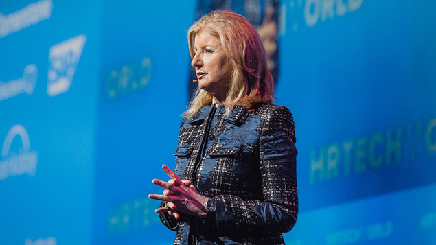 Arianna Huffington explores the importance of setting boundaries with technology at HR Tech World in Amsterdam