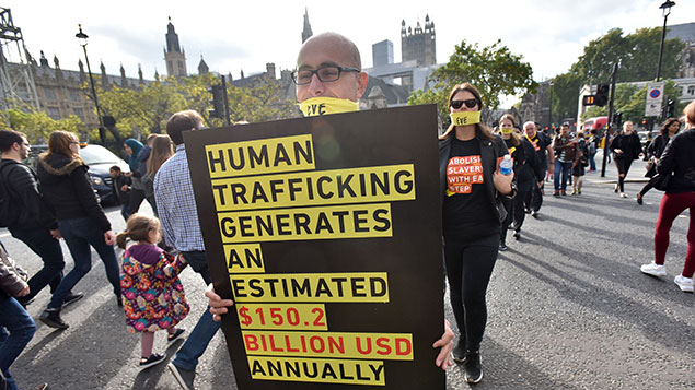 A march in London against modern slaveryMatthew Chattle/REX/Shutterstock