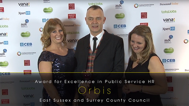 Orbis, the joint venture between East Sussex County Council and neighbouring Surrey County Council, won the Award for Excellence in Public Service HR in 2016.