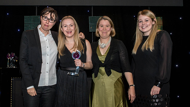 Cubiks collect their Consultancy of the Year trophy. Photo: Ed Telling
