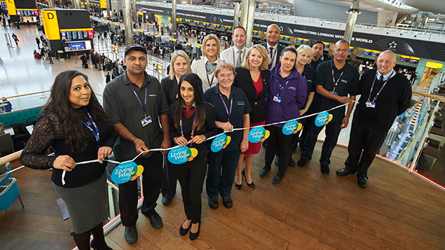 Heathrow Airport staff celebrate becoming a Living Wage employer