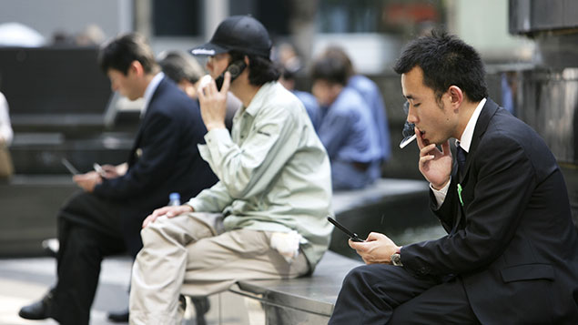 A Japanese company has granted non-smokers extra holiday after they complained they were forced to do more workJochen Tack / imageBROKER/REX/Shutterstock