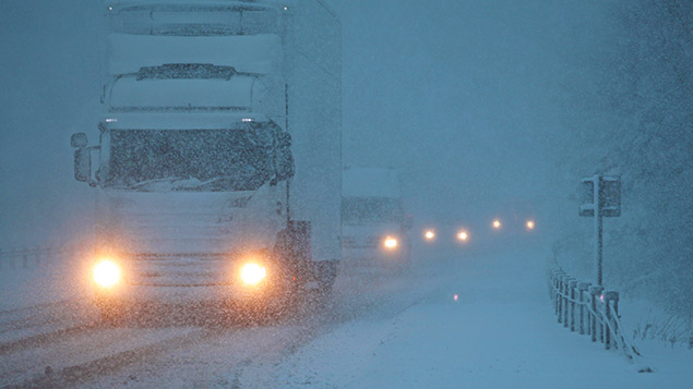 Snow causes havoc on the A9 in Scotland this weekPeter Jolly/REX/Shutterstock