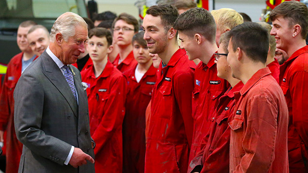 The Prince of Wales meets apprentices in September last yearAndrew Milligan/PA Wire/PA Images