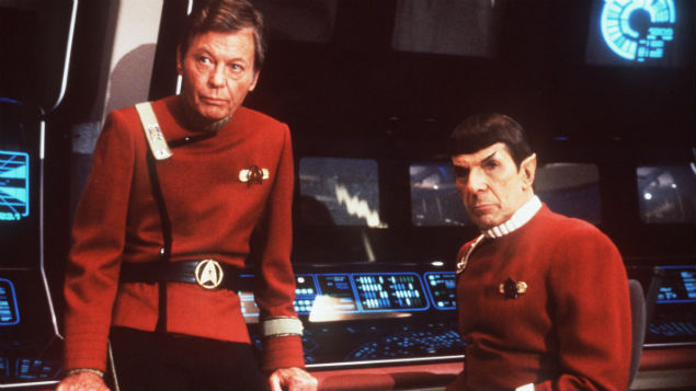 Dr  Leonard McCoy (left, with  fellow Star Trekker Mr Spock) used a 'tricorder' to get instant diagnoses. Digital technology has now caught up with science fiction. Image: Paramount/Kobal/REX/Shutterstock