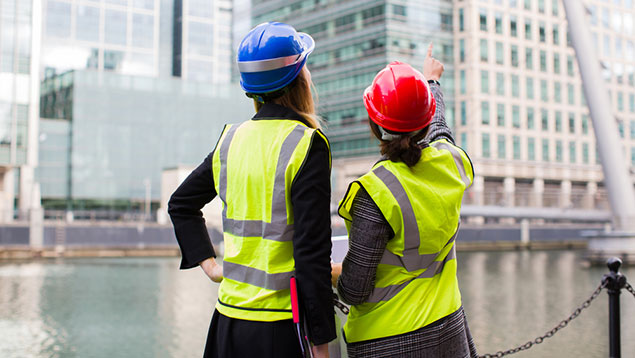 women female construction workers