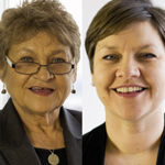Prof Beverly Alimo-Metcalfe and Juliette Alban-Metcalfe