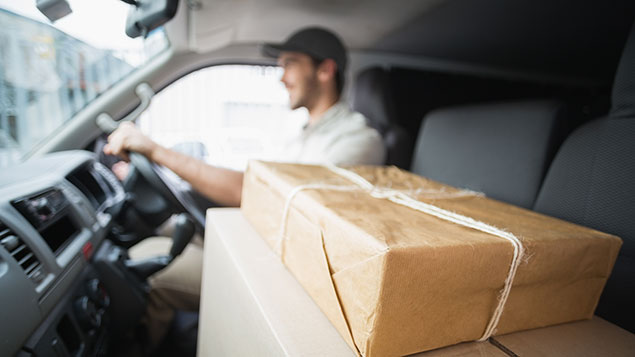 Courier deliver driver