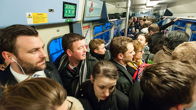 Train disruption overcrowding