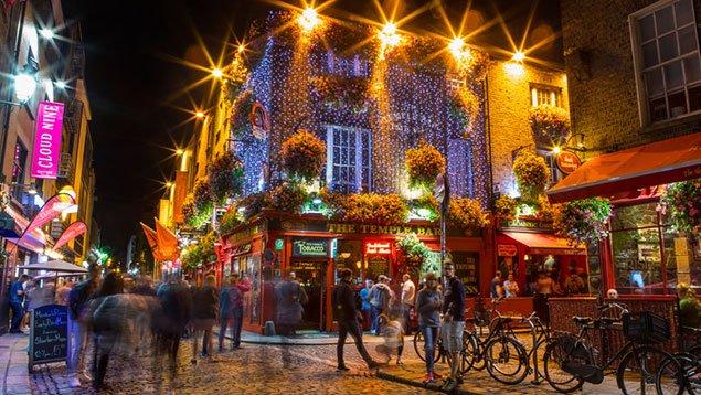 Temple Bar district of Dublin