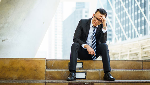 City man stressed out financial services