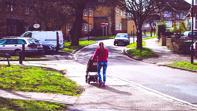 Pushchair woman