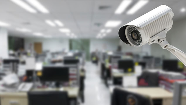 surveillance camera in office