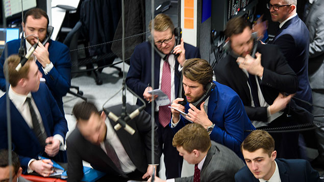 Traders in the 'ring' of the London Metals Exchange