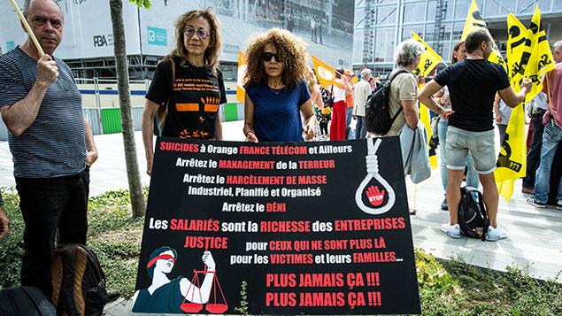 France Telecom protest