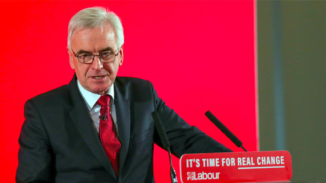 John McDonnell accuses Tories of siding with the super rich