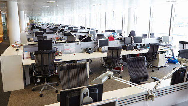 Image result for coronavirus pandemic offices empty