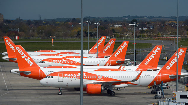 EasyJet aircraft at Southend
